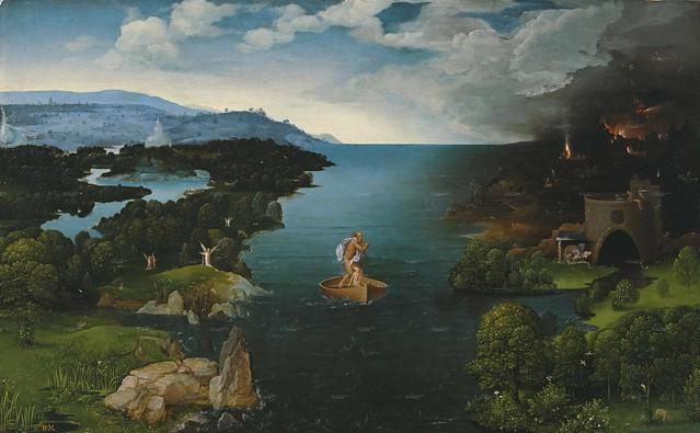 [ P ] Joachim Patinir - Crossing the River Styx (1521)