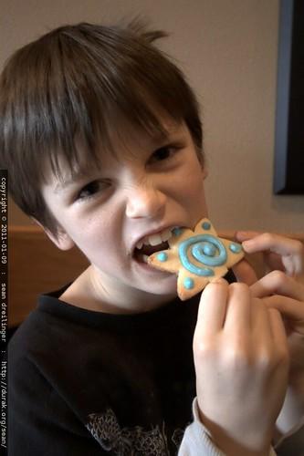 taste tester of complimentary fresh baked cookies
