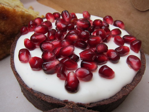 Proof Bakery: Creme Fraiche Tart with Pomegranate Seeds