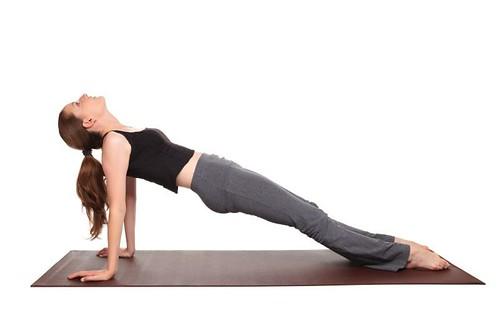 yoga poses - Inclined Plane Pose position (purvottanasana)