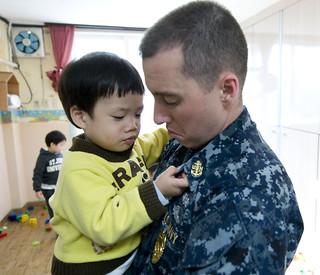 USS Carl Vinson Sailors' Community Service at a Korean Orphanage [Image 3 of 8]