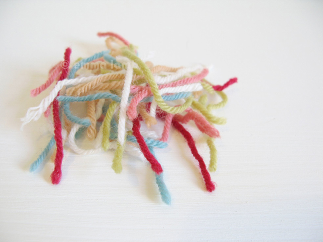 yarn worms - © emma lamb