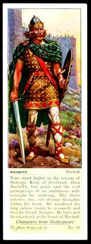 Typhoo Tea Card - Macbeth