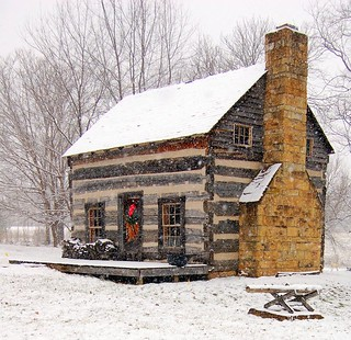 Snow Speckled Cabin
