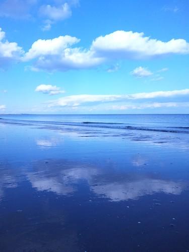ocean blue sea beach day clear