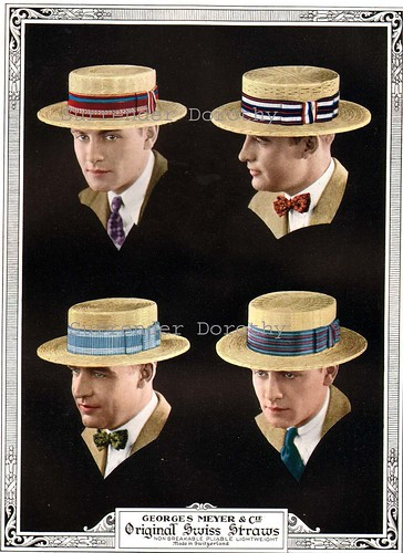 1926 Swiss Straw Boater's Hats Men's Summer Fashions Advertisement