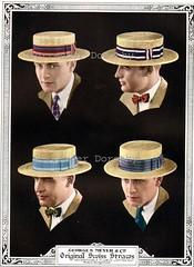 1926 Swiss Straw Boater s Hats Men s Summer Fashions Advertisement  026feb76f741