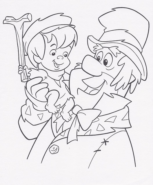 A Flintstones Christmas Carol coloring sheet, 1995 ...
