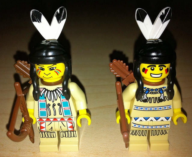 LEGO Collectible Minifigures Series 1 Tribal Hunter vs. Western Indians