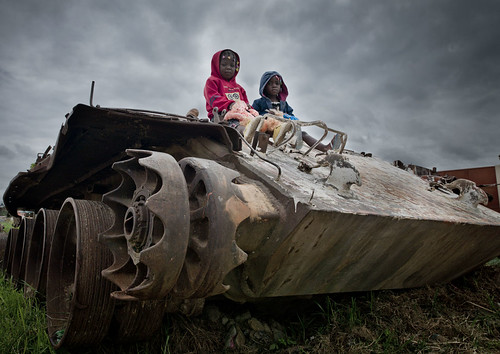 Kids Playing on a Tank - Huambo Angola