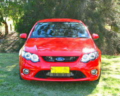 world rally car(0.0), ford focus(0.0), automobile(1.0), automotive exterior(1.0), vehicle(1.0), ford fg falcon(1.0), bumper(1.0), ford(1.0), ford falcon (australian version)(1.0), land vehicle(1.0),