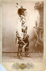 Chippewa Chief with Tomahawk...very rare