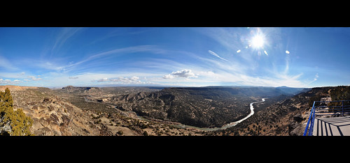 panorama newmexico whiterock overlook riogrande blackmesa