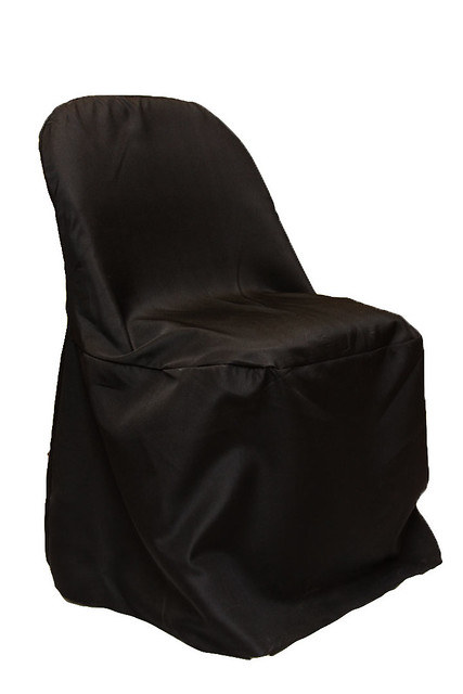 Metal Polyester Folding Chair Cover BLACK