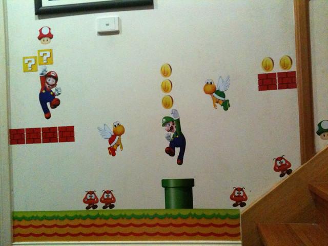 mario wall stickers flickr photo sharing super mario bricks coins 45 big wall luigi nintendo decals