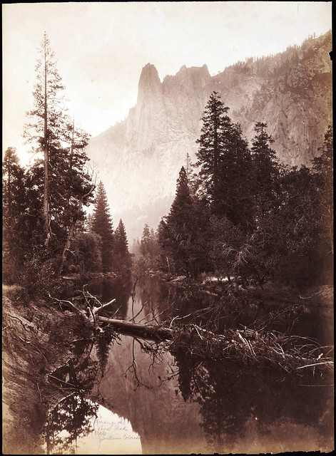 Sentinel Rock, Yosemite, California, Carleton E. Watkins ca 1880