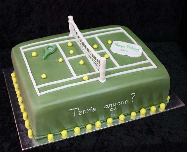 Happy Birthday Tennis Cake