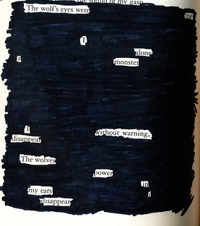 The Wolf's Eyes Were Me - Blackout Poem #2