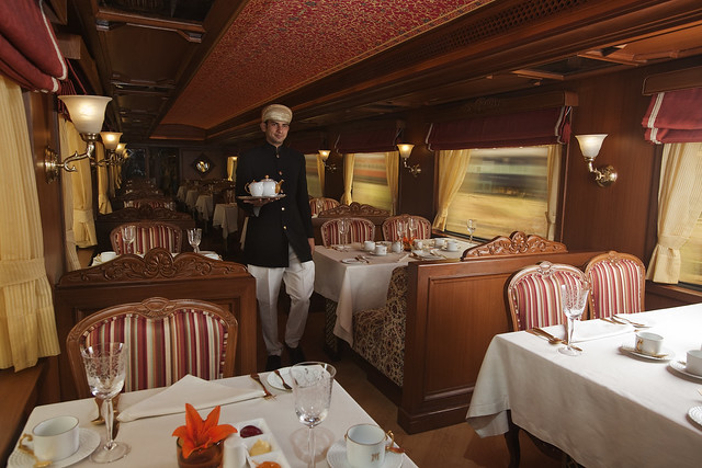 Fine Dining on board Maharajas Express Train