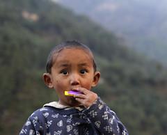 Nepali Boy with Harmonica