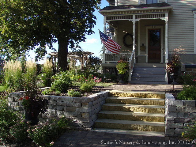 Natural Stone Front Steps