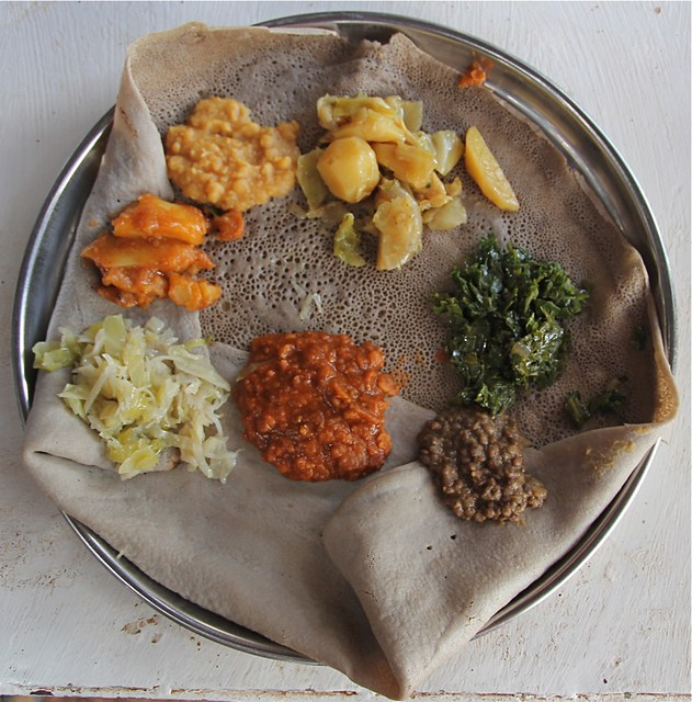 Injera traditional ethiopian food african cuisine and for Authentic ethiopian cuisine