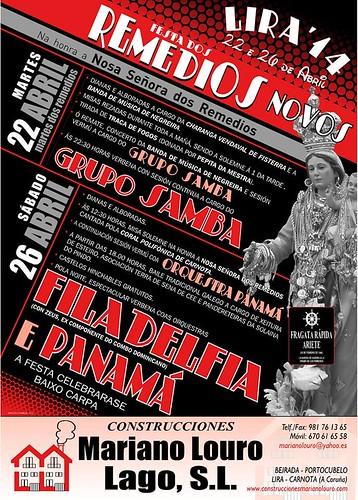 Carnota 2014 - Festa dos Remedios Novos en Lira - cartel
