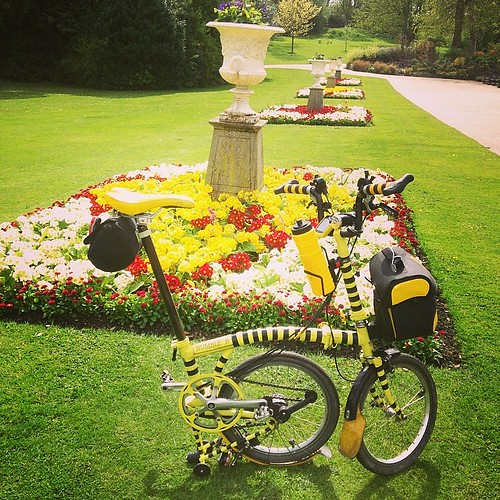 LBC Sheffield Region Annual Ride. #brompton #bromptonbicycle #urban #flowers