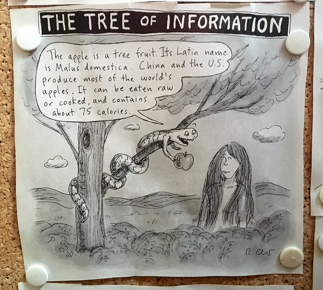 tree of information cartoon