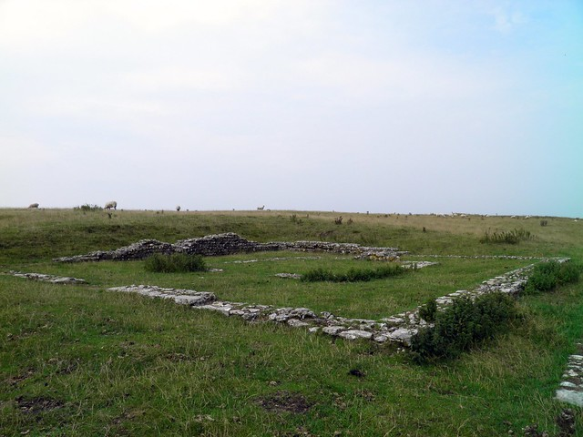 The Romano-British Temple, Maiden Castle, Dorset