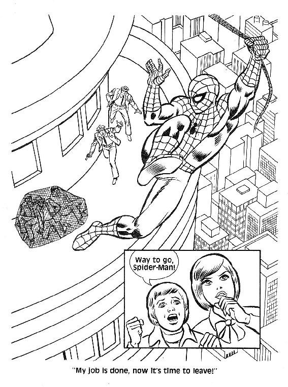 mysterio spiderman coloring pages - photo#33