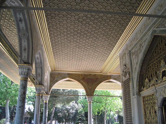 Palais de topkap portique ext rieur de la salle du for Portique exterieur