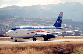 110be - LAN Peru Boeing 737-2Q3; VP-BBO@CUZ;29.09.2000