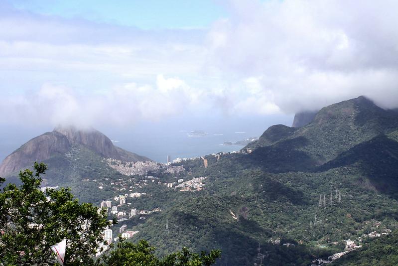 Looking southwest from Corcovado, Rio de Janeiro