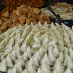 Samosas Before and After - Pokhara, Nepal