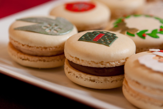 A Chocolate Nutella Macaron Present Flickr Photo Sharing