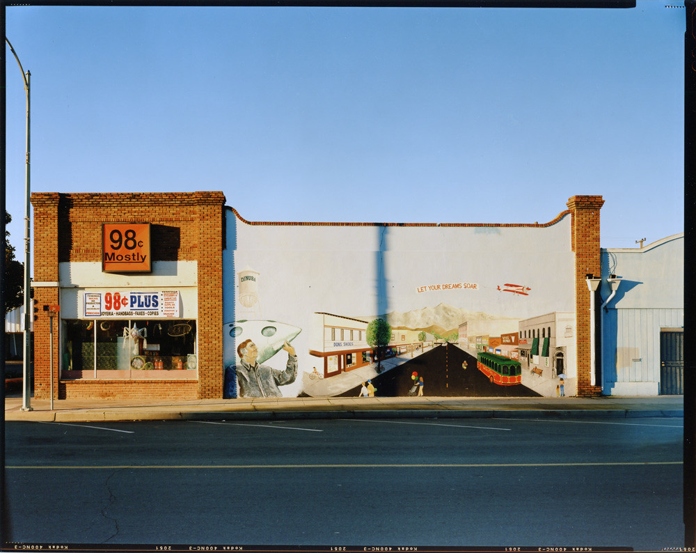 8x10-2010-Dinuba-TulareKst | 98 Cent Mostly store and mural
