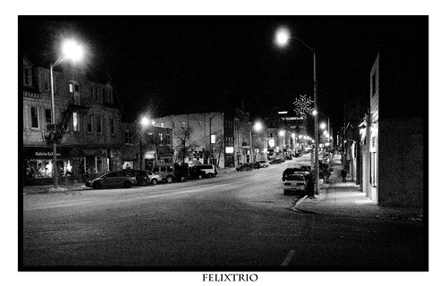 Macdonell Street at Night by Bruce Shapka