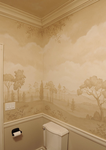 Mural Bath Using Stencils Beautiful Wall Stencils By