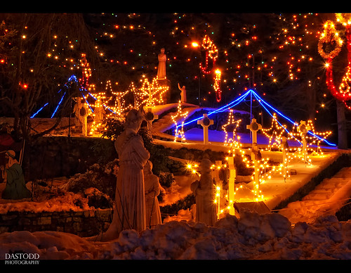 longexposure travel winter usa holiday snow ice festival night stairs children stars ma lights movement nikon shrine december candle action massachusetts hill newengland statues carousel yule festivaloflights nativity 2010 attleboro d90 lasaletteshrine lasalette