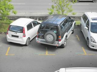Bad Parking By Toyota Prado!