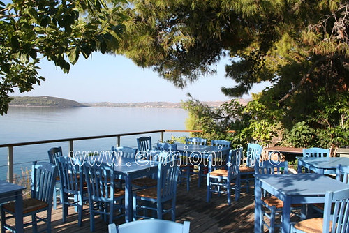 travel trees sea vacation sky holiday canon greek town cafe chairs traditional scenic tourist panoramic photographic greece coastal tables historical taverna cultural hermione peloponnese argolida ermioni unspoilt mandrakia