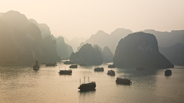 Golden Sunrise at Halong Bay