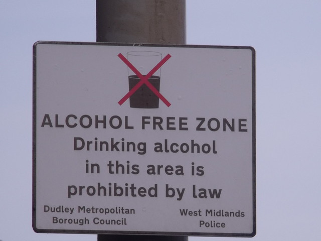 Alcohol Free Zone Drinking Alcohol In This Area Is