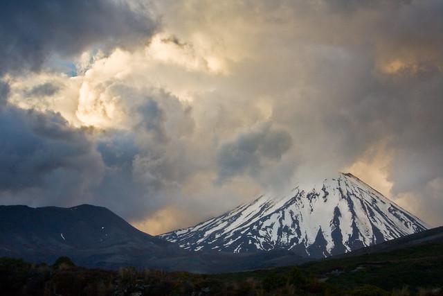 Monte Ngauruhoe. Parque nacional de Tongariro. Nueva Zelanda