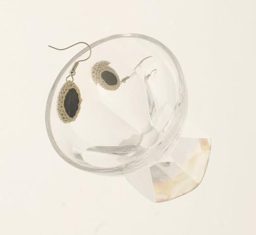 Sea pebble earrings
