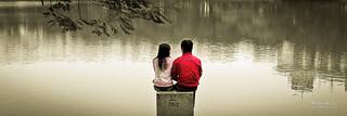 At Hoan Kiem lake