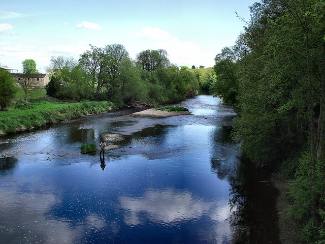 Looking downstream from the bridge.
