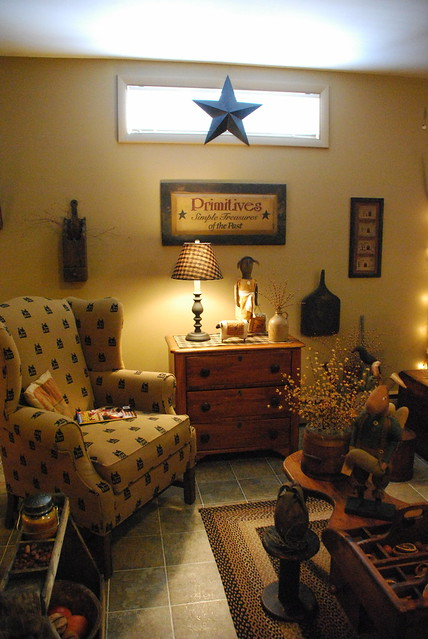 primitive rooms.  cb. primitive powder room our,