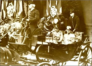 King Amanullah of Afghanistan with Victor Emmanuel c 1920s